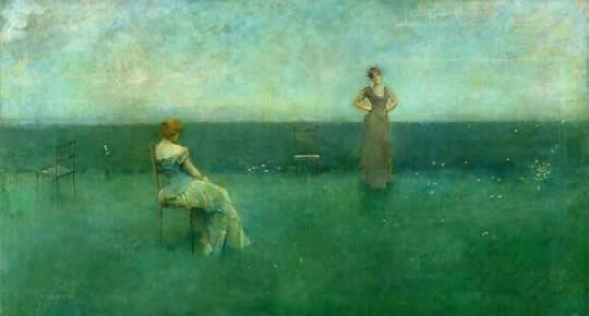 Thomas Dewing The Recitation