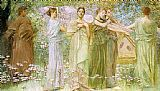 Thomas Dewing The Days painting
