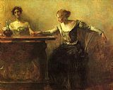Thomas Dewing The Fortune Teller painting