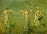 Thomas Dewing The Garland painting