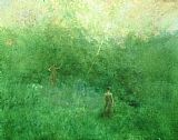 Thomas Dewing The White Birich painting