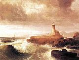 Thomas Doughty Desert Rock Lighthouse painting