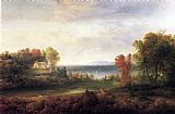 Thomas Doughty Hudson River Landscape painting