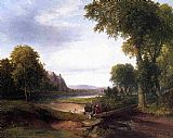 Thomas Doughty Landscape with Footbridge painting