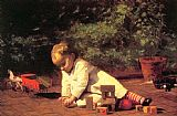 Thomas Eakins Baby at Play painting