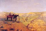 Thomas Eakins Cowboys in the Badlands painting