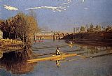 Thomas Eakins Max Schmitt in a Single Scull painting