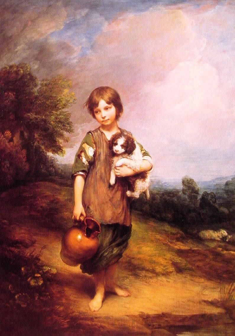 Thomas Gainsborough Cottage Girl with Dog and Pitcher