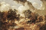 Thomas Gainsborough Landscape in Suffolk painting