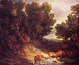 Thomas Gainsborough The Watering Place painting