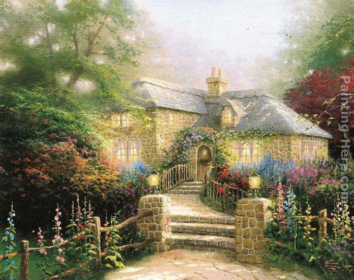 House Paintings Gorgeous Of Thomas Kinkade Hollyhock House Images
