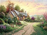 Thomas Kinkade A Peaceful Time painting