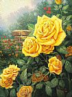 Thomas Kinkade A Perfect Yellow Rose painting