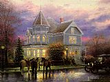 City paintings - CHRISTMAS MEMORIES by Thomas Kinkade