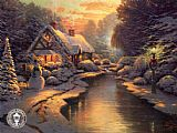 Thomas Kinkade Christmas Evening painting