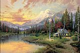 Thomas Kinkade Evening Majesty painting