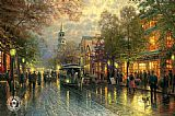 City paintings - Evening on the Avenue by Thomas Kinkade