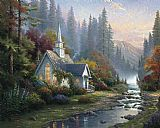 forest scene Canvas Prints - Forest Chapel