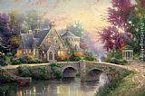 Thomas Kinkade Lamplight Manor painting