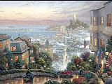 City paintings - Lombard Street by Thomas Kinkade
