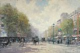 boulevard montmarte Canvas Prints - Morning on the Boulevard