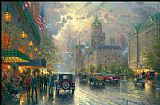 City paintings - New York 5th Avenue by Thomas Kinkade