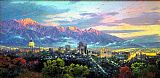 lake como Paintings - Salt Lake, City of Lights