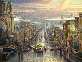 City paintings - The Heart of San Francisco by Thomas Kinkade