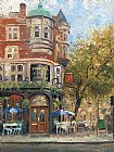 the cafe terrace Paintings - bloomsbury cafe