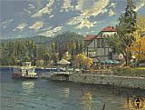 lake como Paintings - lake arrowhead