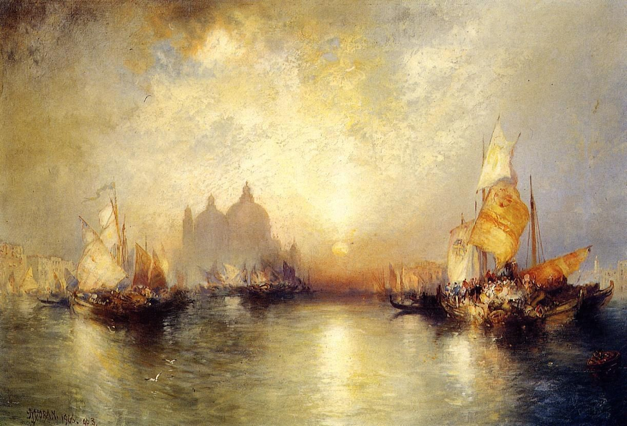 Thomas Moran Entrance to the Grand Canal, Venice