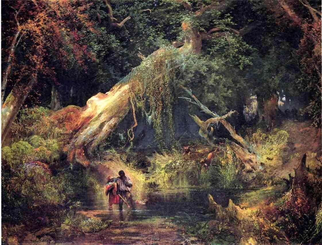 Thomas Moran Slave Hunt, Dismal Swamp, Virginia