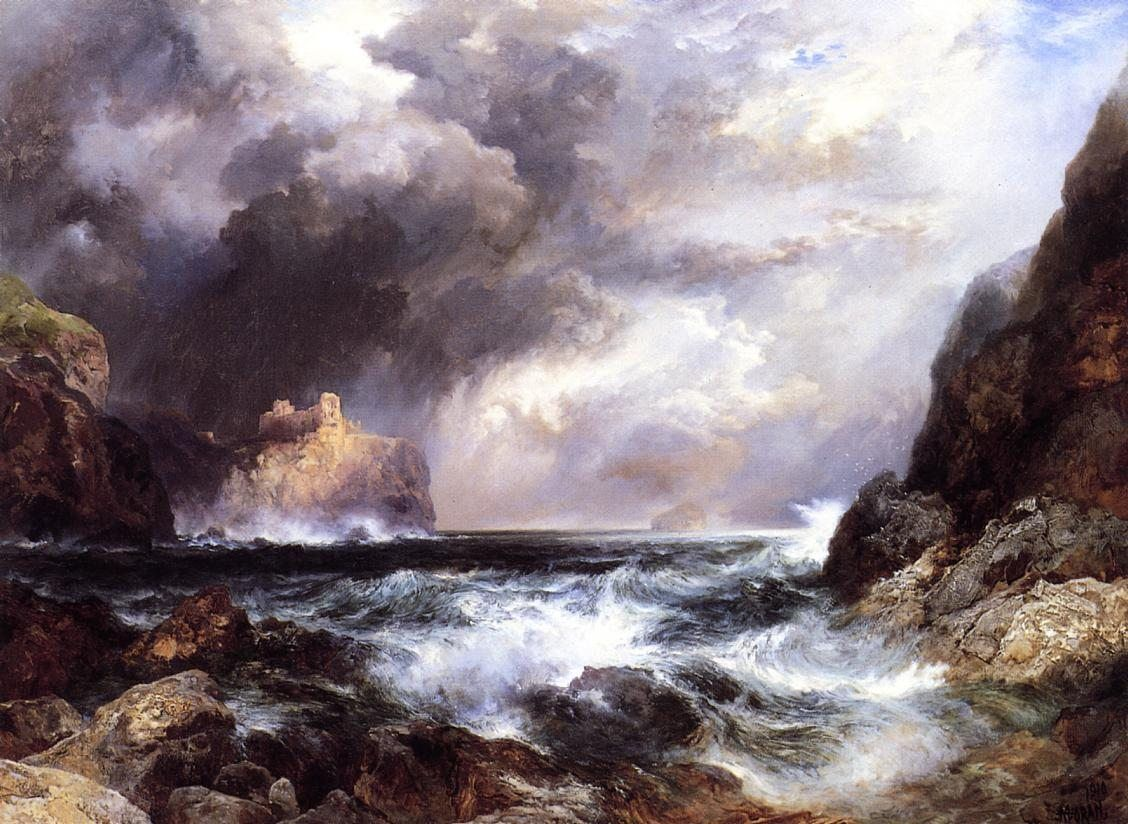 Thomas Moran Tantallon Castle, North Berwick, Scotland
