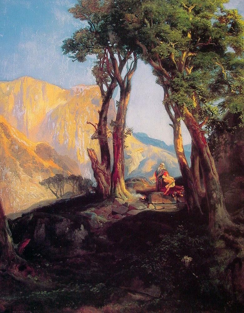 Thomas Moran The sacrifice of Isaac