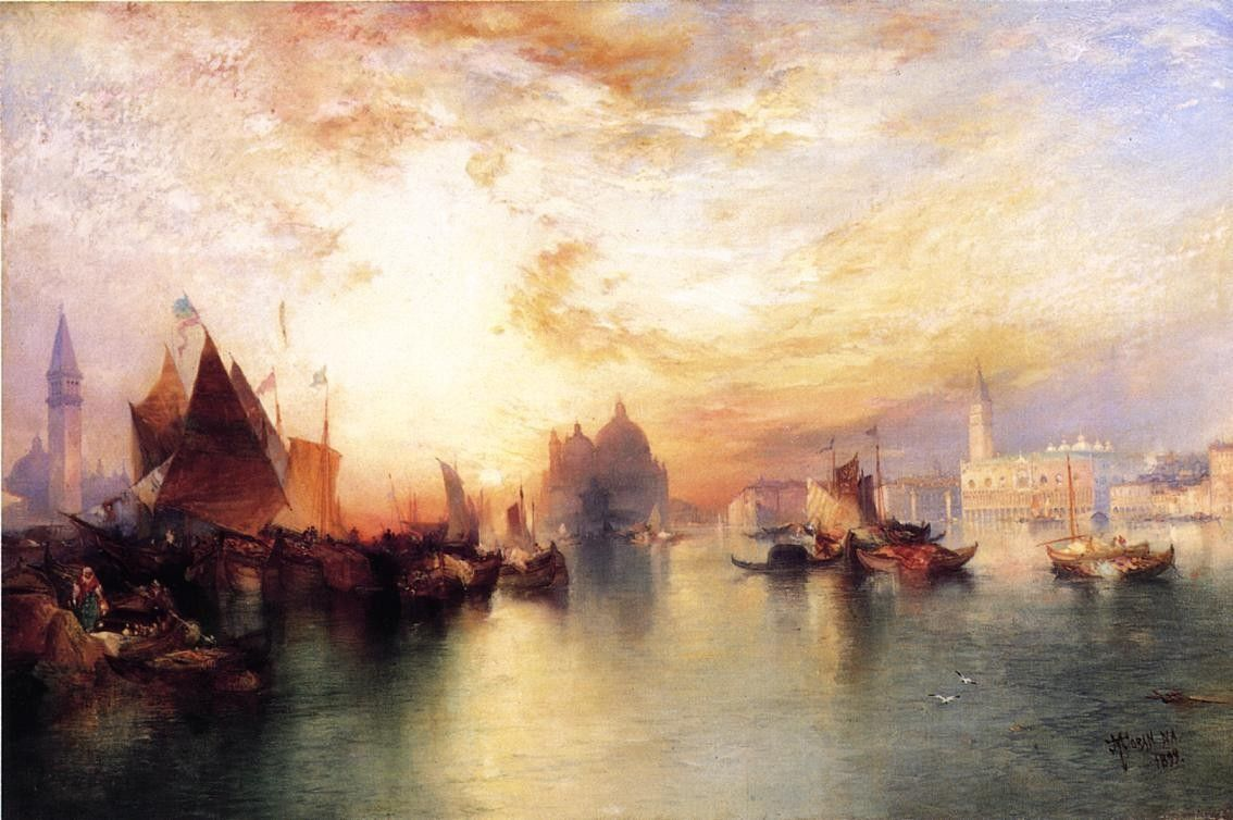 Thomas Moran Venice, from near San Giorgio