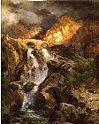 Thomas Moran Cascading Water painting