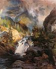 Thomas Moran Children of the Mountain painting