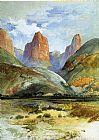 Thomas Moran Colburn's Butte, South Utah painting