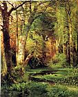 vincent van gogh Canvas Prints - Forest Scene