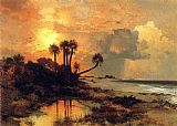 Thomas Moran Fort George Island painting