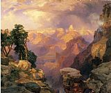 Thomas Moran Grand Canyon with Rainbows painting