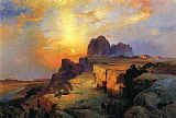 Thomas Moran Hopi Museum,Arizona painting