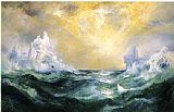 Thomas Moran Icebergs in Mid-Atlantic painting