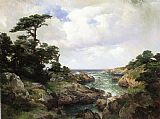 Thomas Moran Monterey Coast I painting