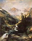 Landscape paintings - Mountain of the Holy Cross by Thomas Moran