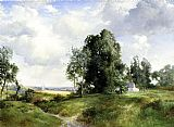 Thomas Moran Old Windmill, East Hampton, Long Island, New York painting