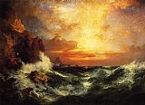 Thomas Moran Sunset near Land's End, Cornwall, England painting