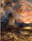 Thomas Moran Sunset on the Moor I painting