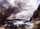 Thomas Moran Tantallon Castle, North Berwick, Scotland painting
