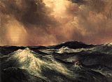 Seascapes paintings - The Angry Sea by Thomas Moran